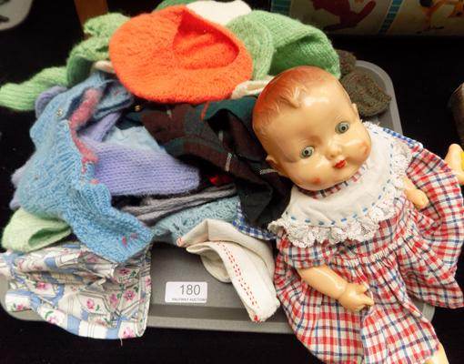 1950s rosewood baby girl doll with outfits