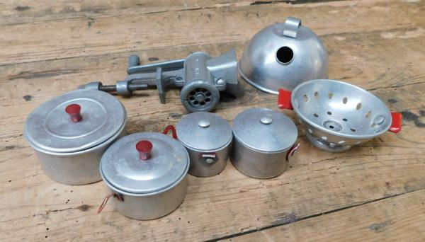 1950s metal DCMT Toys - dolls house kitchenware - rare