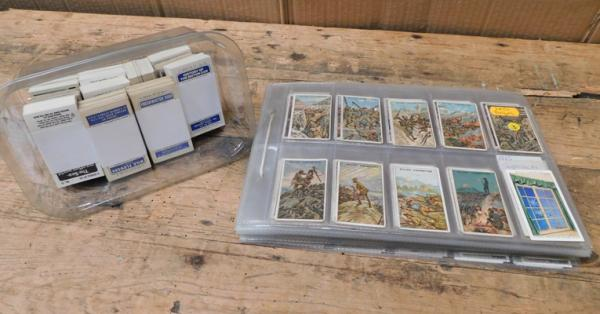 40 pages + tub of cigarette cards