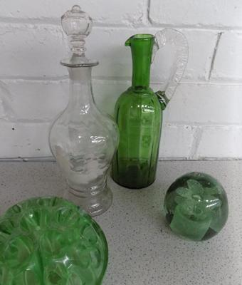 Selection of glass ornaments, Mary Gregary style - hand blown (wear to two items)
