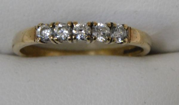 9ct Gold 1/4 eternity ring size N