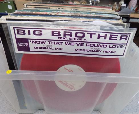 Box of RnB + Hip Hop, 12 inches - white labels & DJ promos