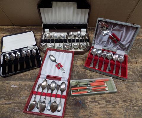 Collection of silver plate cutlery