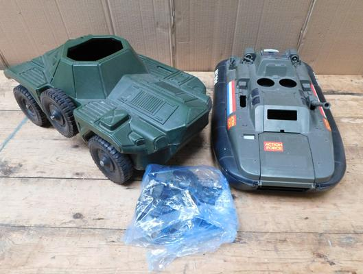 2 x Palitoy Action Force large vehicles