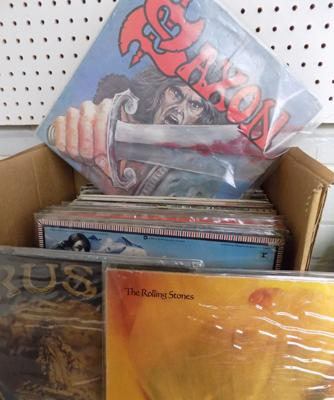 Approx. 70 records, incl. Rush, Stones, Neil Young, Madness, Saxon, Petty, Santana