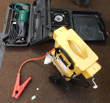 Parkside reciprocating saw, camping stove & battery booster