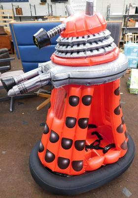 Inflatable Dalek, charged & in W/O (no charger incl.)