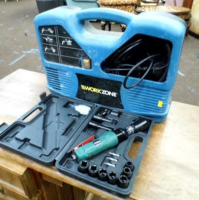 Compact compressor with ratchet