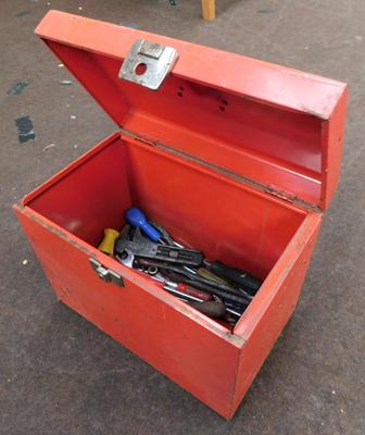 Red tool box & contents