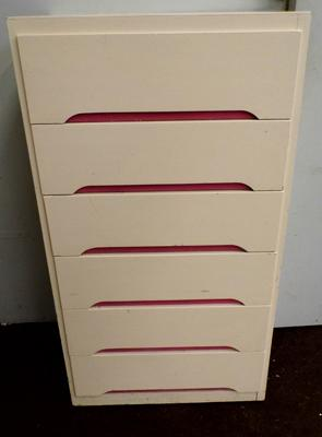 Liden vintage 1970s chest of six drawers - approx. 80cm