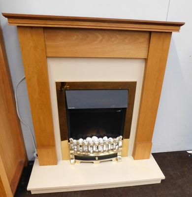 Inset electric fire - W/O, with fireplace