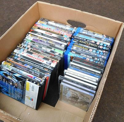 Box of DVDs, Blue Rays and PC games