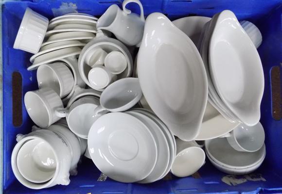 Box of catering ware