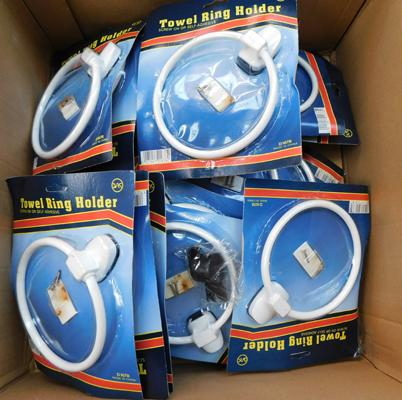 Box of towel ring holders