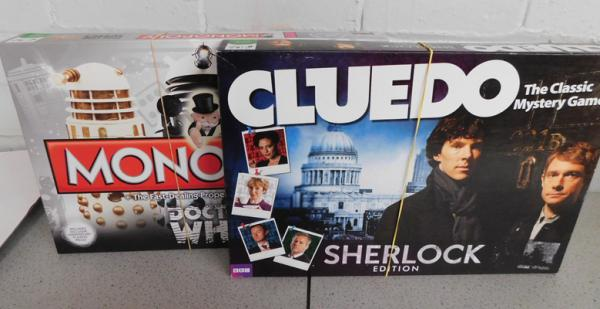 2 x board games - Dr Who Monopoly & Sherlock Cluedo - both complete