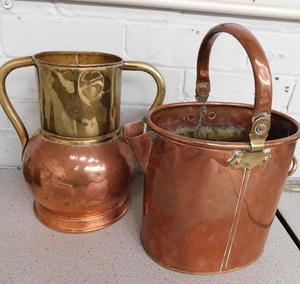 Large copper & brass carriers
