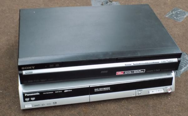 Sony DVD recorder + Panasonic DVD recorder - not checked, as seen
