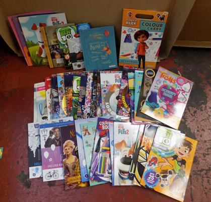Box of assorted childrens books + activity books