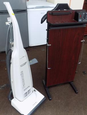 Panasonic vacuum cleaner in W/O + Corby trouser press in W/O
