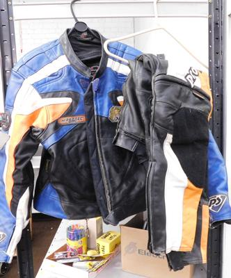 Set of motor cycle leathers incl. jacket and pants