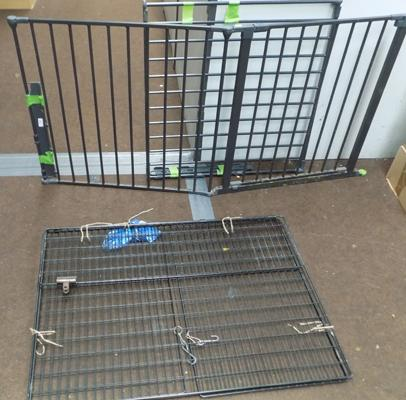 Large safety gate and fire guard