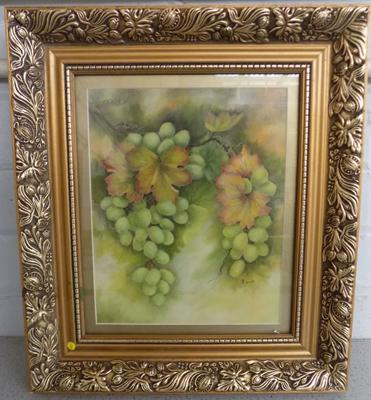 Vintage framed oil on board by Artist Barbara Clough