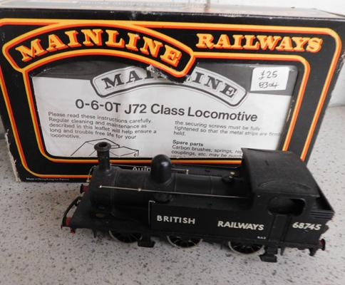 Mainline 0-6-0T J72 class locomotive with paperwork + box