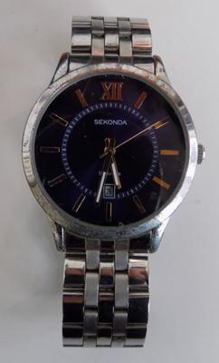 Sekonda gents wristwatch, detailed to back w/o