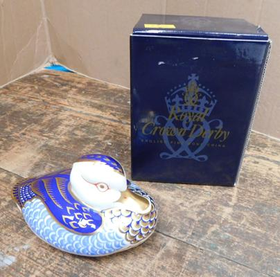 Royal Crown Derby duck paperweight