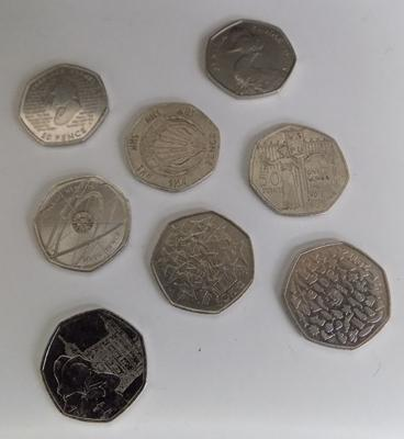 Collection of 50p coins inc Jemima, WWF, Paddington & Sherlock Holmes