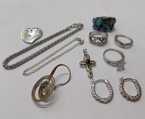 Sterling silver & white metal jewellery