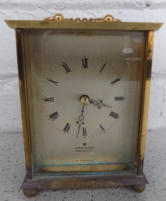 Junghans solid brass carriage clock