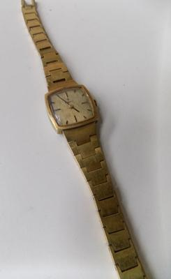 Art Deco Tissot 24ct gold plated cocktail watch with bracelet strap