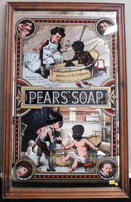 Pears soap mirror approx 20.5 x 32 inches