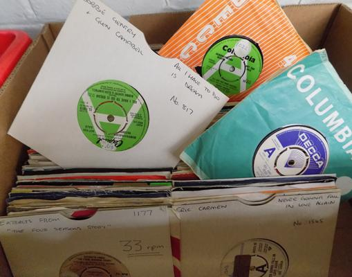 Over 250 singles; 60s/70s/80s including Demos, most ex radio station