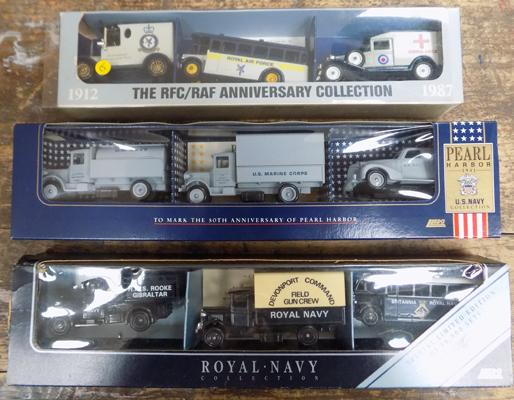 3x Lledo sets-RAF, Pearl Harbour & Royal Navy