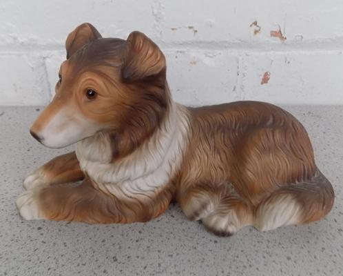 HHH Harvey Knox bisque porcelain Collie dog-approx 8 inches-no damage