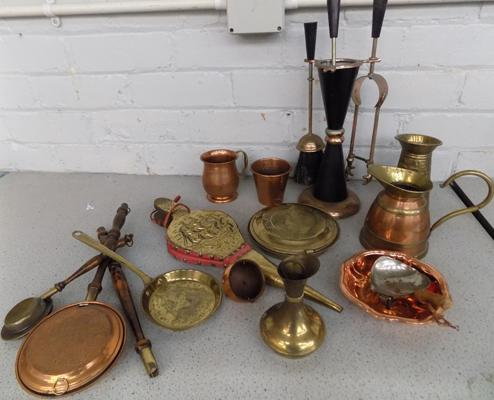 Collection of copperware
