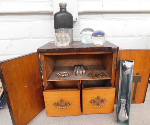 Vintage case with collectables