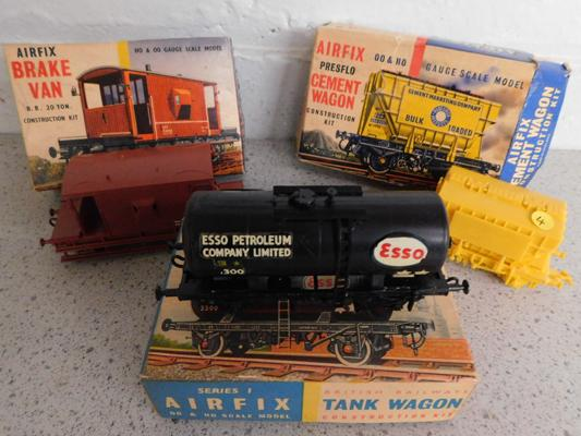 3 x Airfix wagon kits