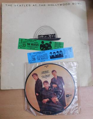 Beatles at Hollywood Bowl + Beatles picture disc