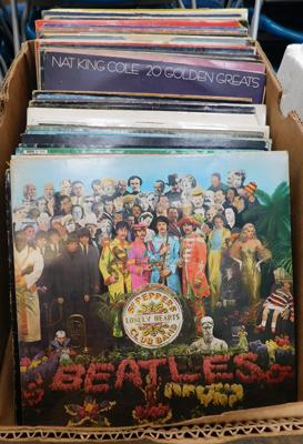 Over 60 mixed LPs - some collectable