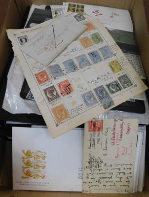 Box of stamps including earlier material etc.