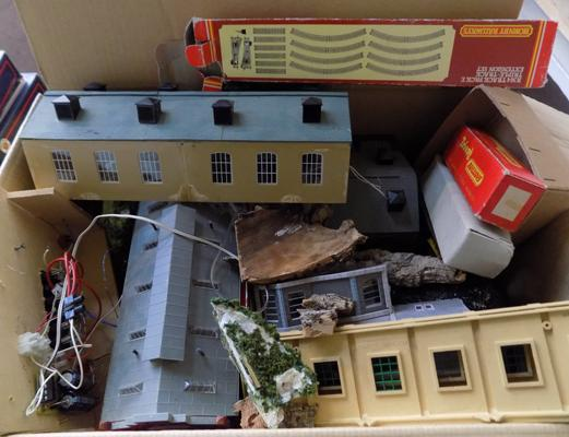 Assortment of Hornby model railway buildings