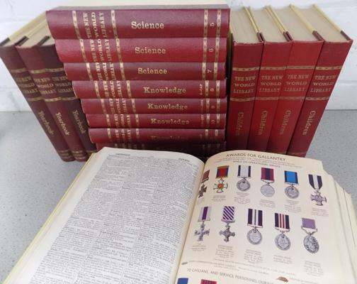1-13 The New World library, 2 Oxford illustrated dictionaries, 3 New World library year books