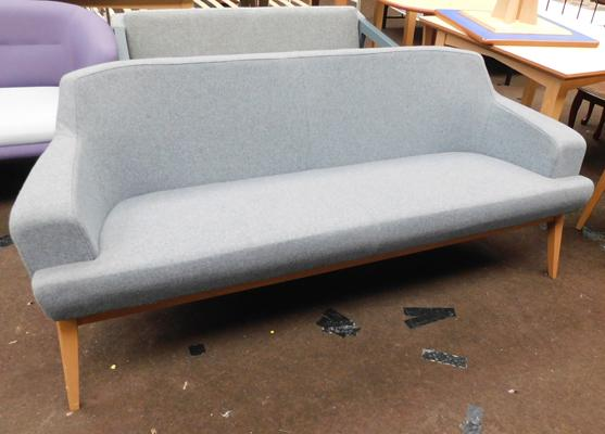 Grey sofa bench, three seater, new, unused