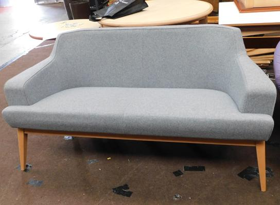 Grey sofa bench two seater, new, unused