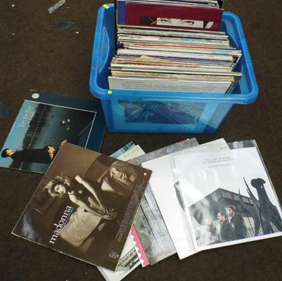 "Box of mixed LPs & 12"" singles"