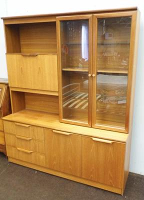 Large display wall cabinet-retro mid century