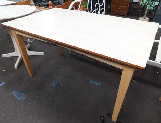 Rectangular dining table, new, unused